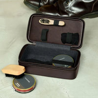 Stackers Brown Watch & Cufflink Travel Zip Box 75430 Personalise the lid with Laser engraved message