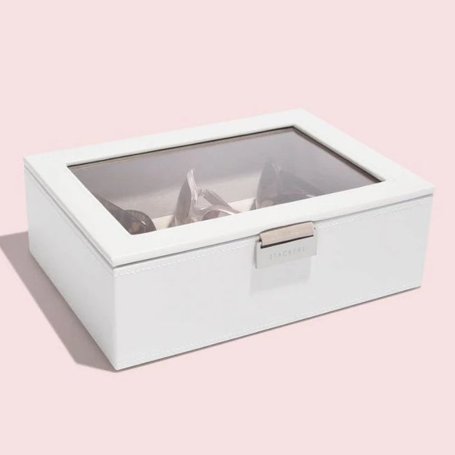 Stackers Classic White Leather Sunglasses Box 73595