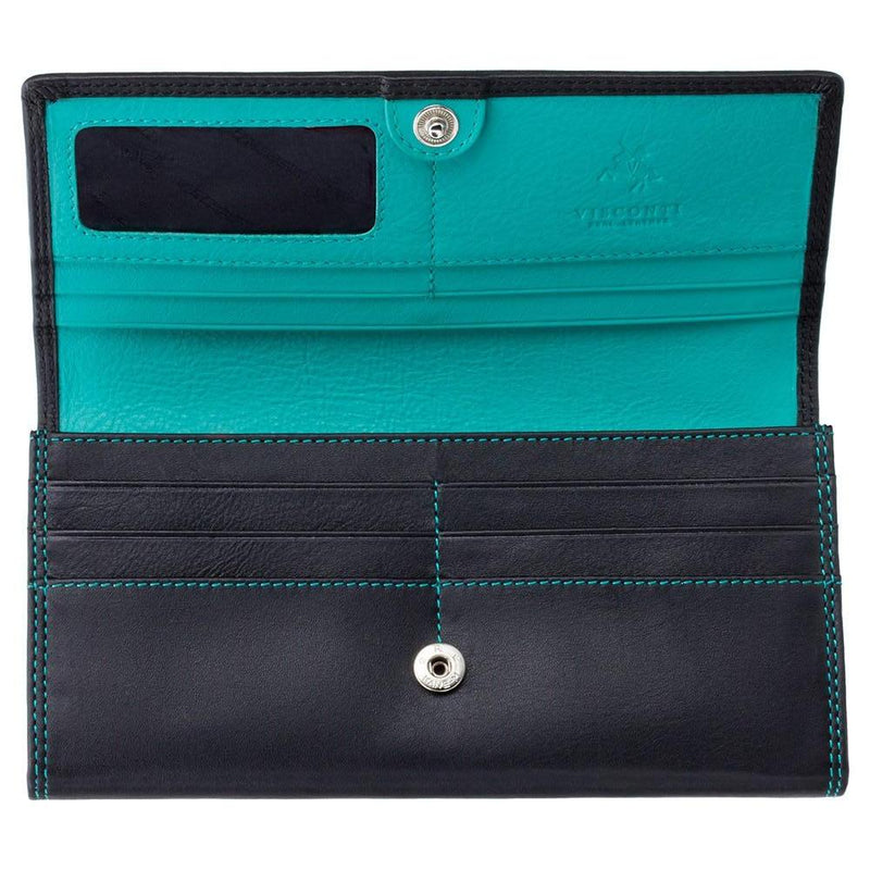 Visconti Topas Ladies Personalised Purse CD21 aqua