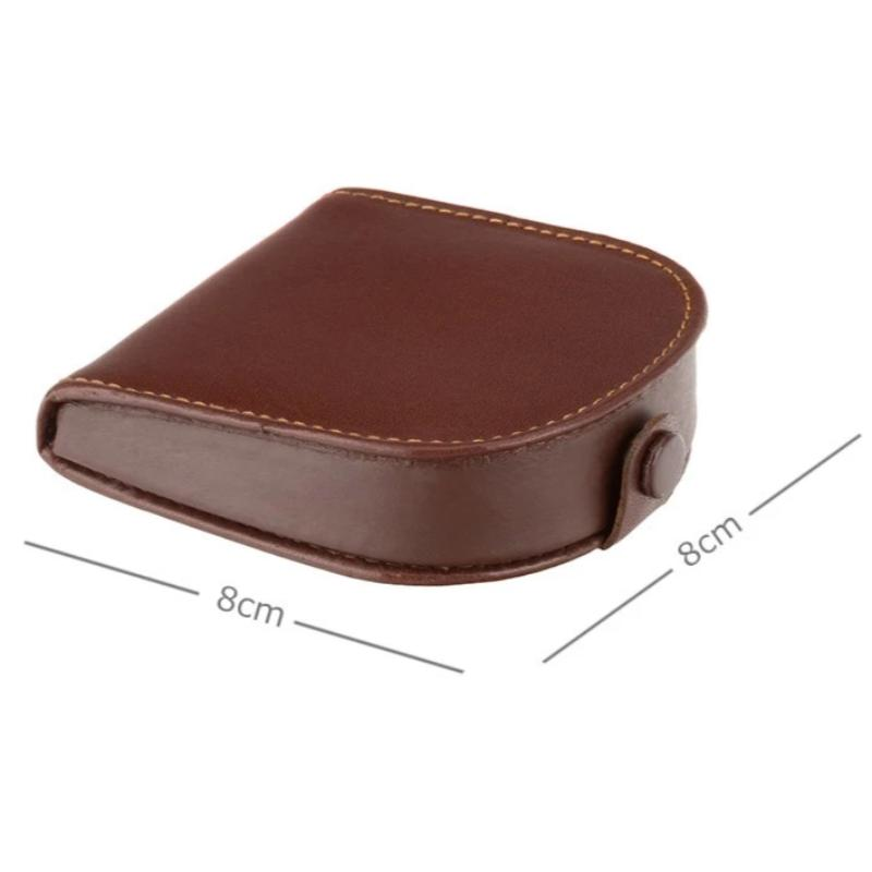 Visconti Coin Tray Purse Brown Leather TRY5