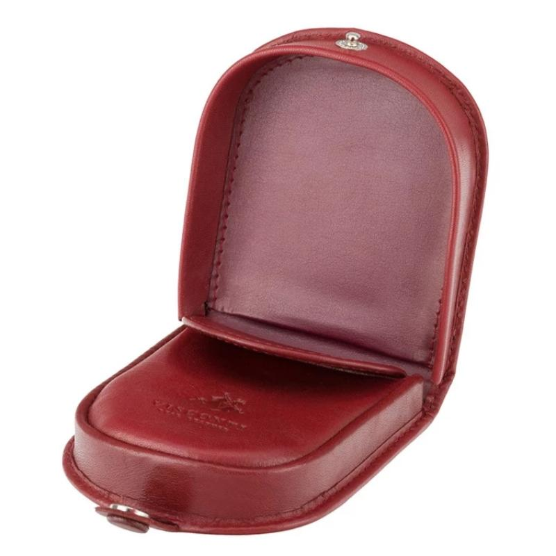 Visconti Coin Tray Purse Red Leather TRY5