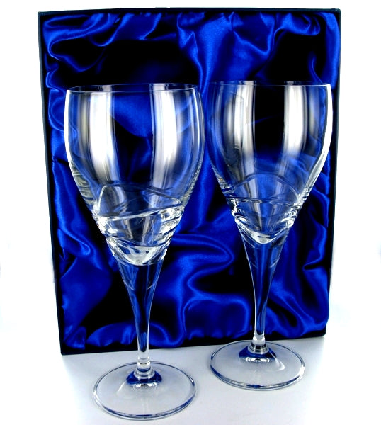 Verona Wine Goblet Pair with Presentation Box & Free Engraving
