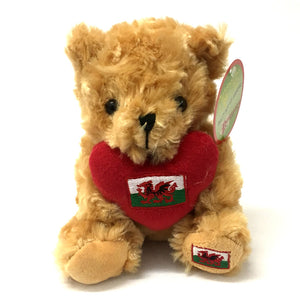 13cm Wales Heart Flag Bear Soft Toy[wp176]
