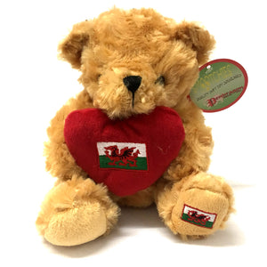 16cm Wales Heart Flag Bear Soft Toy[wp177]