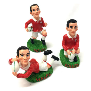 3pc Rugby Player 4in Resin Figures