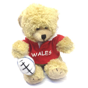 6in Wales Rugby Bear with Ball Soft Toy [wp74]