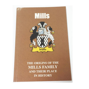 Mills Family Surname Origins and History Pocketbook