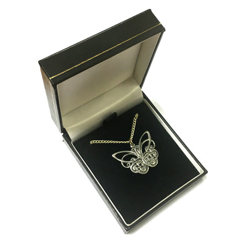 AEW Celtic Butterfly Pewter Pendant & Chain