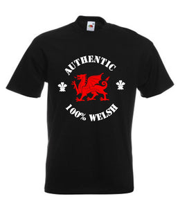 Authentic 100% Welsh Loose-Fit Unisex T-Shirt black