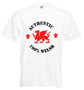 Authentic 100% Welsh Loose-Fit Unisex T-Shirt white