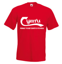 Cymru Best Country Loose-Fit Unisex T-Shirt red