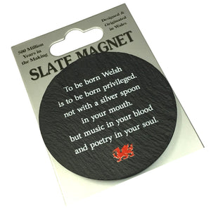 To Be Born Welsh Slate Coaster [ws61]