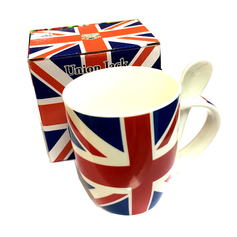 British Union Jack Boxed Spoon in Handle Mug [gw1822]