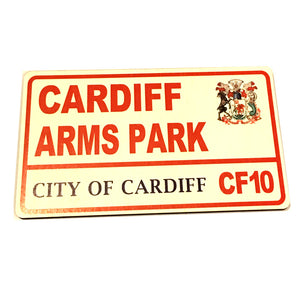 Cardiff Arms Park Rugby Supporter Wooden Street Sign. Cardiff Blues [wg646]