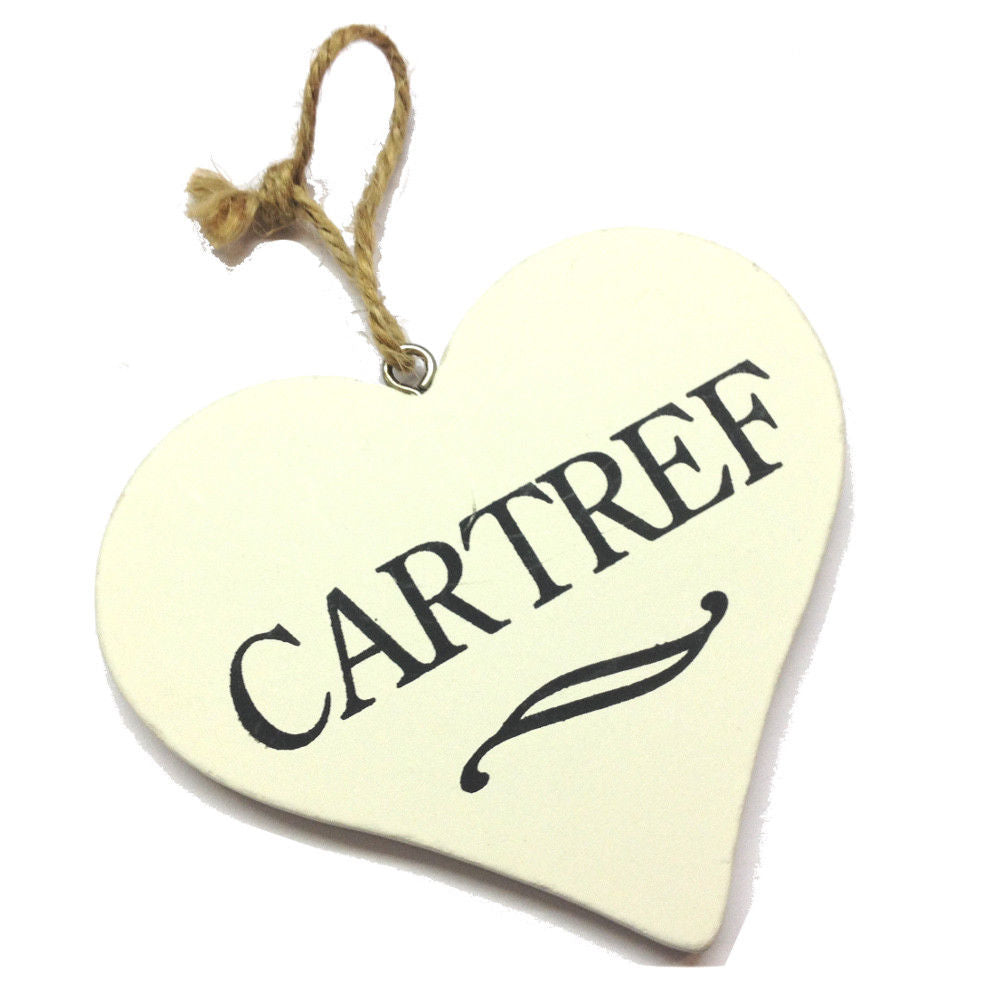 Cartref 9cm Heart-Shaped Hanging Plaque