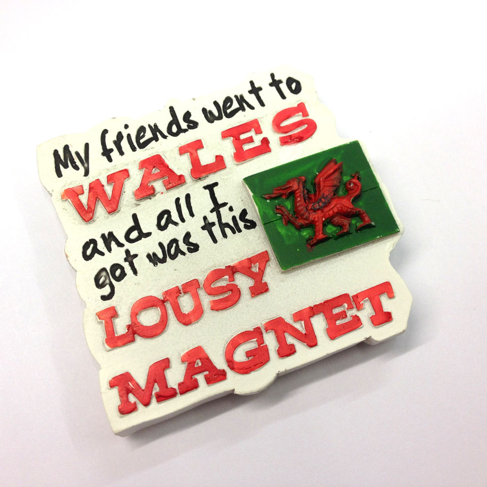 Cast Resin Wales Lousy Fridge Magnet