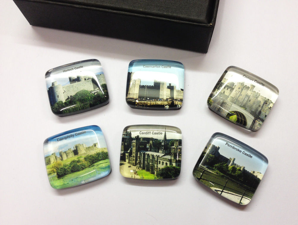 Castles of Wales 6pc Fridge Magnets Boxed Set [wm622]