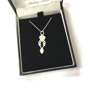 Celtic Collection Sterling Silver Lovespoon Pendant [DC32]