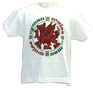 GWP Celtic Dragon Junior White T-Shirt [G821]