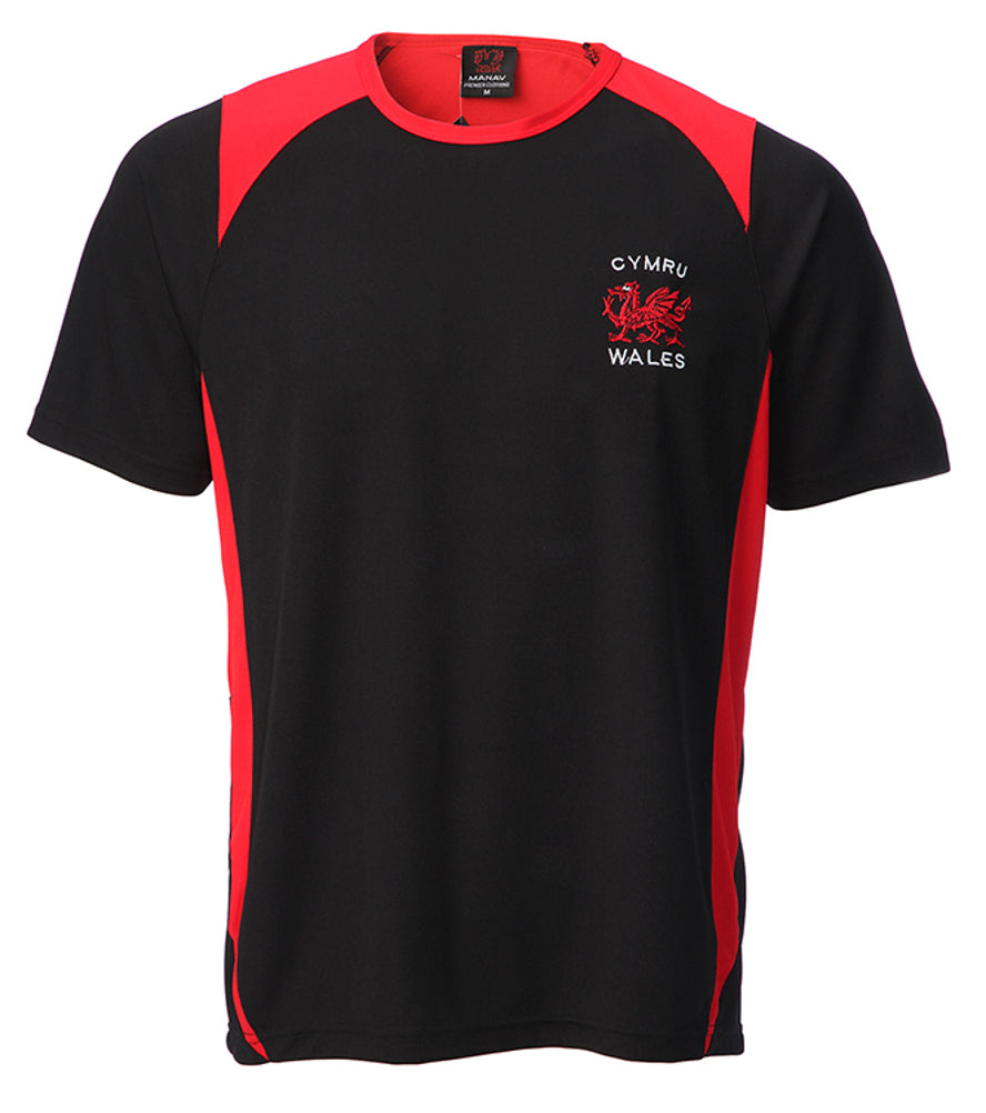 Wales Dragon New Poly Contrast T-Shirt [sel]