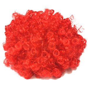 Wales Red Curly Novelty Supporter Wig [wa98]