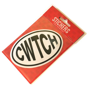 Cwtch Wales Dialect Oval Sticker [EST]
