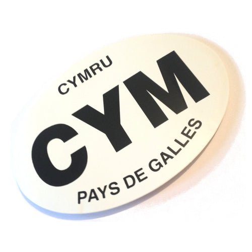Wales Cym Pays de Galles Oval Car Sticker [wb13]