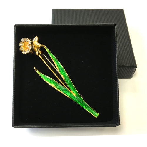 DH Welsh Collection Daffodil Brooch [br108e]
