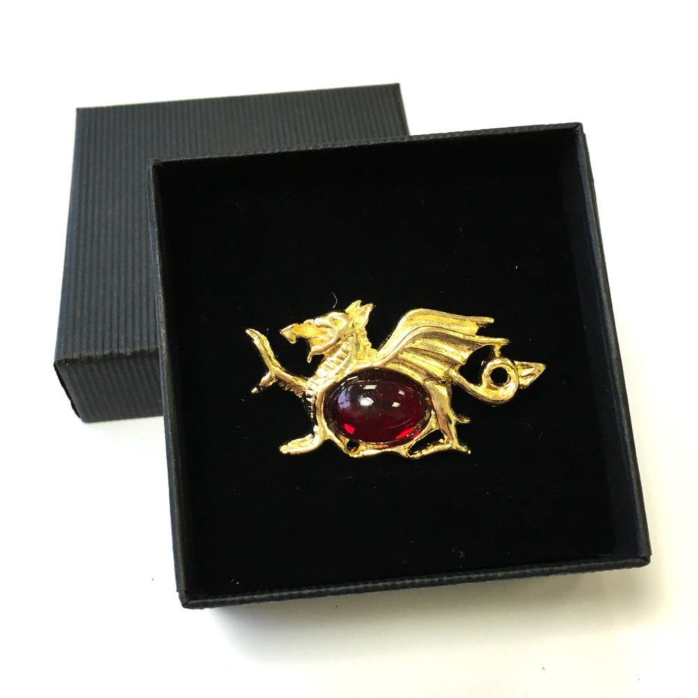 DH Welsh Collection Dragon Red Belly Brooch [br192]