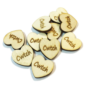 10pk Cwtch 20mm mini Laser Etched Hearts Sprinkles