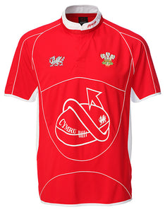 Rhys Dragontail Cooldry Junior Wales Rugby Shirt