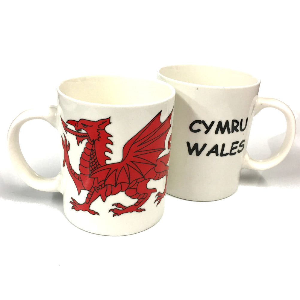 Wales Dragon White China Mug [gw9500]