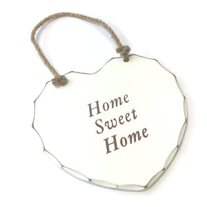 Home Sweet Home  7inch Shabby Chic Decorative Plaque Sign