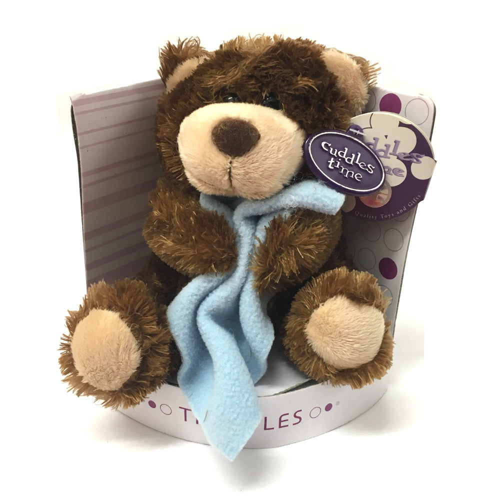 Truffles Bear Soft Toy with Blanket [blue]