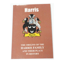 Harris Family Surname Origins and History Pocketbook