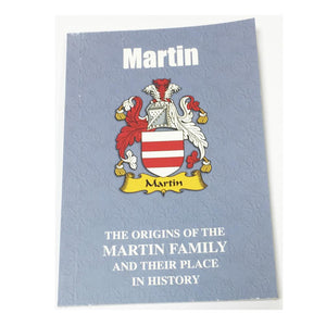 Martin Family Surname Origins and History Pocketbook