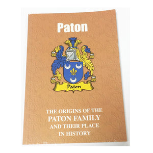 Paton Family Surname Origins and History Pocketbook