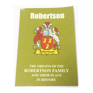 Robertson Family Surname Origins and History Pocketbook