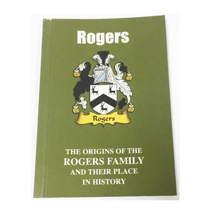 Rogers Family Surname Origins and History Pocketbook