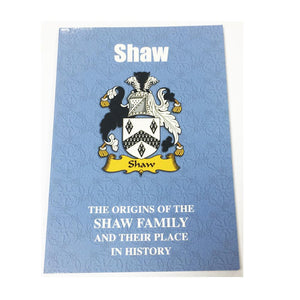 Shaw Family Surname Origins and History Pocketbook