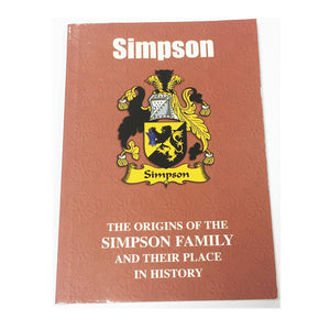 Simpson Family Surname Origins and History Pocketbook