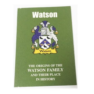 Watson Family Surname Origins and History Pocketbook