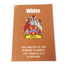White Family Surname Origins and History Pocketbook