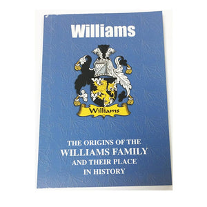 Williams Family Surname Origins and History Pocketbook