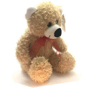 Teddy Bear with Ribbon Soft Toy [23cm/caramel]