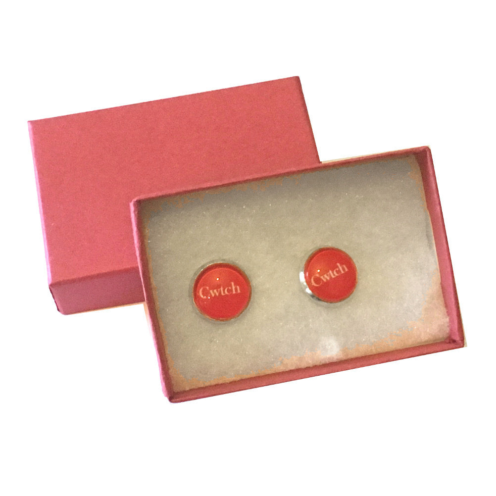 Cwtch Stud Earrings Handmade by JustJoss