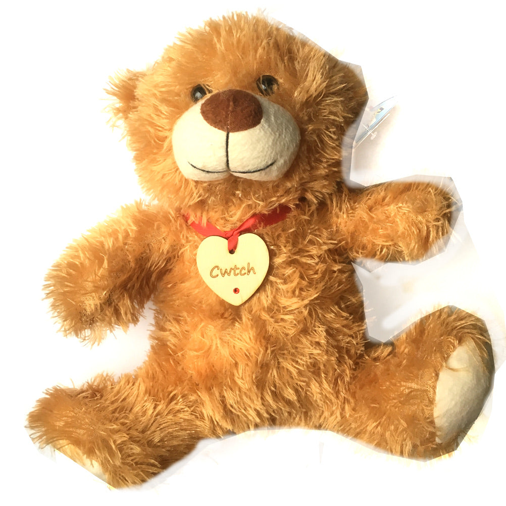 Cwtch Laser Etched Heart Bear Soft Toy