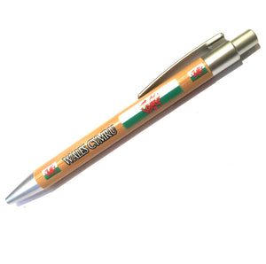 Wales Flag Wooden Barrel BallPen [we234]