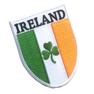 Ireland Irish Flag Tri-Colour Shield Embroidered Patch