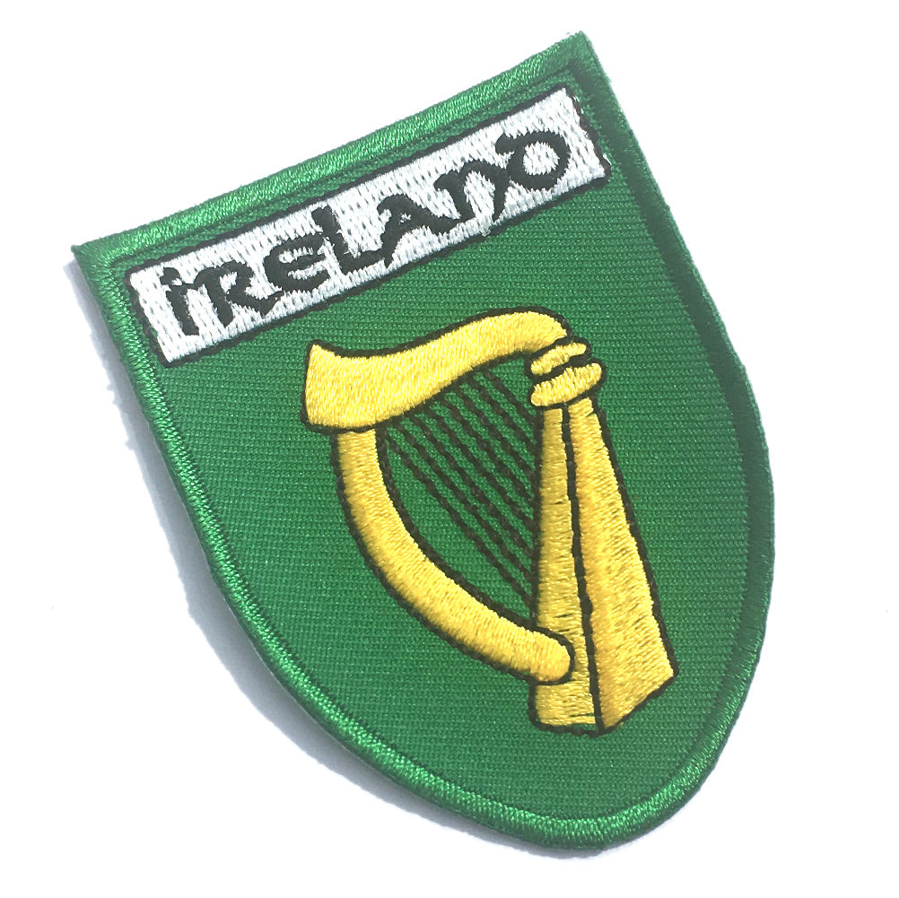 Ireland Irish Harp Shield Embroidered Patch